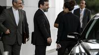 Le négociateur en chef iranien Abbas Araghchi au 2e jour de discussions sur le dossier nucléaire à Genève, le 16 octobre 2013 [Fabrice Coffrini / AFP/Archives]