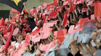 Des supporteurs de Toulouse lors d'un match de Top 14 de leur équipe face à Toulon, le 26 octobre 2013 à Toulouse [ / AFP]