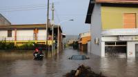 Inondations à Uras, en Sardaigne, le 18 novembre 2013 [Alessandra Chiergia / AFP]