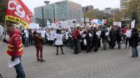 Des salariés de FagorBrandt manifestent à Nanterre le 22 novembre 2013 [Jacques Demarthon / AFP/Archives]