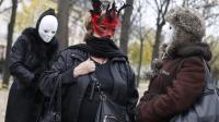 Manifestantes contre la pénalisation des clients de prostituées, le 29 novembre 2013 à Paris [Thomas Samson / AFP]