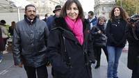 La candidate PS à la mairie de Paris, Anne Hidalgo, le 1er décembre 2013 dans la capitale française [Thomas Samson / AFP]