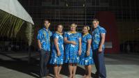 La délégation de Niue, le 3 décembre 2013 [Fred Payet / AFP]