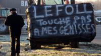 Des agriculteurs manifestent le 10 décembre 2013 à Auch (Gers) [REMY GABALDA / AFP]