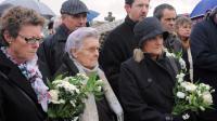 Des proches des victimes du naufrage du Bugaled Breizh, il ya dix ans, le 18 janvier 2014 à Loctudy (Finistère) [Fred Tanneau / AFP]