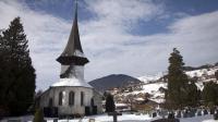 L'église Siant-Nicolas à Rougemont où s'est marié, le 1er février 2014 Andrea Casiraghi avec Tatiana Santo Domingo [Boris Heger / AFP]