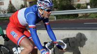 Le champion de France Arthur Vichot (FDJ.fr) sur l'Etoile de Bessèges, le 7 février 2014 à Bessèges [Sylvain Thomas / AFP/Archives]