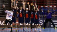 L'équipe de Paris SG handball face au HC Metalurg de Skopje en Ligue des champions, le 8 février 2014 à Paris [ / AFP/Archives]
