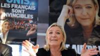 Marine Le Pen, la présidente du Front national, à Sable-sur-Sarthe le 10 février 2014 [Jean-François Monier / AFP]
