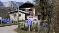 Photo d'archive du panneau d'entrée du village de Chevaline, photographié le 18 février 2014 [Jean-Pierre Clatot / AFP/Archives]