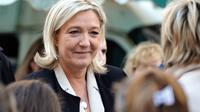 La présidente du FN, Marine Le Pen, à Carvin, dans le Pas-de-Calais, le 8 mars 2014 [Philippe Huguen / AFP/Archives]