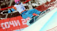 La Française Cécile Hernandez-Cerveloon pendant l'épreuve de snowboard cross debout le 14 mars 2014 aux jeux Paralympiques de Sotchi [ / AFP]