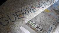 La carte historique de la Première guerre mondiale publiée par Michelin, le 3 avril 2014 à Boulogne-Billancourt près de Paris [Franck Fife / AFP]