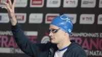Le nageur Yannick Agnel lors des Championnats de France à Chartres le 12 avril 2014 [ / AFP/Archives]
