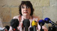 Le procureur de la République, Isabelle Pagenelle, lors d'une conférence de presse à La Rochelle,le 17 avril 2014 [Xavier Leoty / AFP]