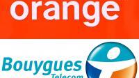 Les logos des opérateurs Orange et de Bouygues Telecom [Ben Stansall / AFP]