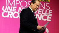 Le Premier secrétaire du partis socialiste, Jean-Christophe Cambadelis, lors d'une conférence de presse au siège du parti à Paris, le 25 mai 2014 [Françsoi Guillot / AFP/Archives]