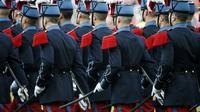 Des élèves de Saint-Cyr le 31 mai 2014 [Thomas Samson / AFP/Archives]