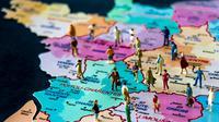 François Hollande a annoncé début juin la réduction de 22 à 14 du nombre des régions [Philippe Huguen / AFP/Archives]