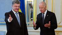Le président ukranien Petro Porochenko et le vice-président américain Joe Biden le 7 juin 2014à Kiev [Mykhaylo Markiv  / Service de presse de la présidence/AFP]