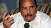 Le président mauritanien sortant Ould Abdel Aziz, favori de l'élection présidentielle, lors d'une conférence de presse à Akjoujt le 18 juin 2014 [Seyllou / AFP]