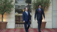 Le président français François Hollande reçoit la visite officielle à l'Elysée de l'émir, cheikh Tamim Ben Hamad Al-Thani, le 23 juin 2014 [Alain Jocard / pool/AFP]