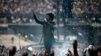 Le chanteur d'Indochine Nicola Sirkis en concert le 27 juin 2014 au Stade de France [Stéphane de Sakutin / AFP]