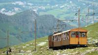 Le train à crémaillère de la Rhune, montagne dominant la côte basque dans les Pyrénées, le 28 mai 2014 [Gaizka Iroz / AFP]