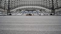 Le stade Vélodrome de Marseille en cours de rénovation, le 4 juillet 2014 [Boris Horvat / AFP/Archives]