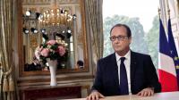 Le président français François Hollande, lors de son intervention télévisée du 14 juillet 2014 [Thibault Camus / POOL/AFP]