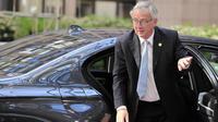 Le nouveau président de la Commission européenne Jean-Claude Juncker arrive au siège de l'Union européenne à Bruxelles le 16 juillet 2014 [Georges Gobet / AFP]