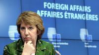 Le chef de la diplomatie européenne Catherine Ashton à Bruxelles le 22 juillet 2014 [Thierry Charlier / AFP/Archives]