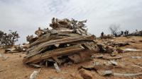 Débris du vol d'Air Algérie, le 26 juillet 2014 dans la région de Gossi [Sia Kambou / AFP]