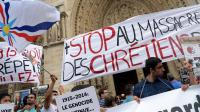 Rassemblement de soutien aux chrétiens d'Orient sur le parvis de la cathédrale de Paris, le 27 juillet 2014  [Pierre Andrieu / AFP]