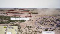 Document présenté  le 28 juillet 2014 à la presse à Paris et montrant une vue aérienne du site du crash de l'avion d'Air Algeria [Kenzo Tribouillard / AFP]