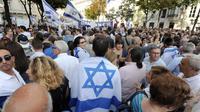 Des manifestants soutenant Israël et son offensive sur Gaza, le 31 juillet 2014 à Paris [Dominique Faget / AFP]