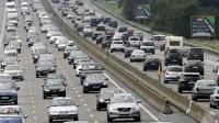 Embouteillage près de Vienne, sur l'A7, le 2 août 2014 [Philippe Desmazes / AFP/Archives]