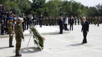 Philippe, roi des Belges, rend hommage aux soldats tombés durant la Première Guerre mondiale, le 4 août 2014 à Liège [Fred Dufour / AFP]