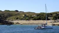 La plage de l'île de Cézembre, au large de Saint-Malo le 18 août 2014 [Miguel Medina / AFP]