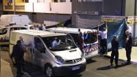 Des policiers travaillent sur le lieu d'une fusillade mortelle dans le quartier de Lemasson, à Montpellier, dans la nuit du 23 au 24 août 2014 [Pascal Guyot / AFP]