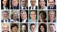 Photo montage des 18 principaux ministres du gouvernemnet Valls II, nommé le 26 aout 2014 [Desk / AFP/Archives]
