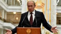 Vladimir Poutine lors d'une conférence de presse le 27 août 2014 à Minsk [Kirill Kudryavtsev  / AFP/Archives]