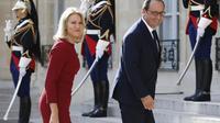 François Hollande accueille la Premier ministre du Danemark Helle Thorning-Schmidt, le 30 août 2014 à Paris à l'Elysée [Kenzo Tribouillard / AFP]
