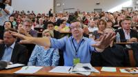 """Le député """"frondeur"""" PS Christian Paul à La Rochelle, le 30 août 2014 [Xavier Leoty / AFP]"""