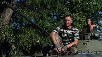 Des rebelles prorusses le 31 août 2014 à Starobesheve au sud-est de Donetsk [Francisco Leong / AFP]