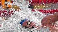 Yannick Agnel en finale du 200 m nage libre aux Championnats de France de natation le 10 avril 2014  [Damien Meyer  / AFP/Archives]