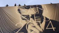 L'Affiche du 67e festival de Cannes, qui ouvre ses portes mercredi 14 mai 2014, avec une photo de l'acteur italien Marcello Mastroianni [Valery Hache / AFP/Archives]