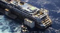 Le Costa Concordia au large de l'île de Giglio (Italie), le 23 juillet 2014 [Protezione civile italiana / AFP/Archives]