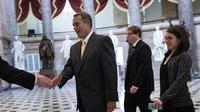 Le président républicain de la Chambre John Boehner au Capitole, à Washington DC, le 3 octobre 2013 [Brendan Smialowski / AFP]
