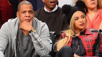 Les chanteurs Jay Z et Beyoncé à New York, le 3 février 2014  [Emmanuel Dunand / AFP/Archives]